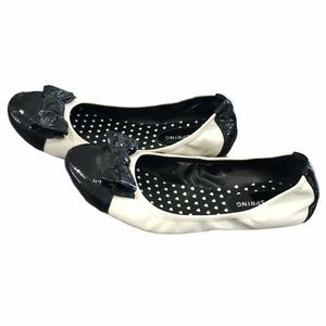 Call It Spring black and white flats 7.5